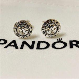 Pandora 925 silver Zircon Earrings
